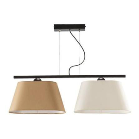 2 Light Cream and Beige Modern Ceiling Lamp-Ceiling Lamp-Belle Fierté