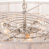 CATALINA - Glamour Ceiling Lamp, White Shade Crystal Chandelier-Chandelier-Belle Fierté