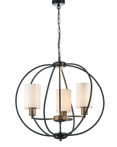 Cava - Globe Rustic Farmhouse Chandelier, Sphere Pendant Light-Chandelier-Belle Fierté