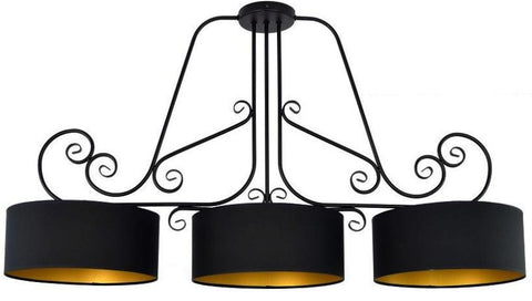 Caliste - Large Rustic Black Kitchen Island Chandelier-Chandelier-Belle Fierté