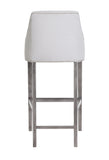 Charlotte - Buttoned Kitchen Stool, Shabby Chic Studded Breakfast Bar Chair-Bar chair-Belle Fierté