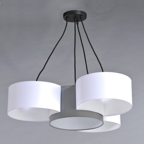 White and Grey Modern Ceiling Lamp Shade-Chandelier-Belle Fierté