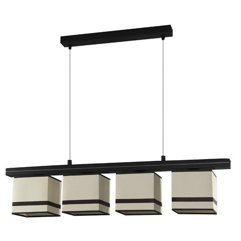 Gregor - 4 Light Beige Dining Table, Breakfast Bar Suspended Lamp-Ceiling Lamp-Belle Fierté
