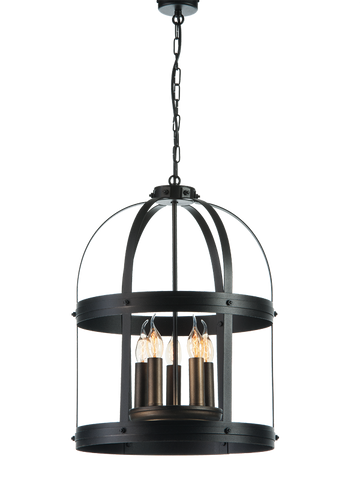 Arsene - Rustic Farmhouse Chandelier, Metal Pendant Light-Chandelier-Belle Fierté
