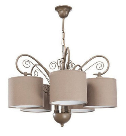 Cream Shade Chandelier-Chandelier-Belle Fierté