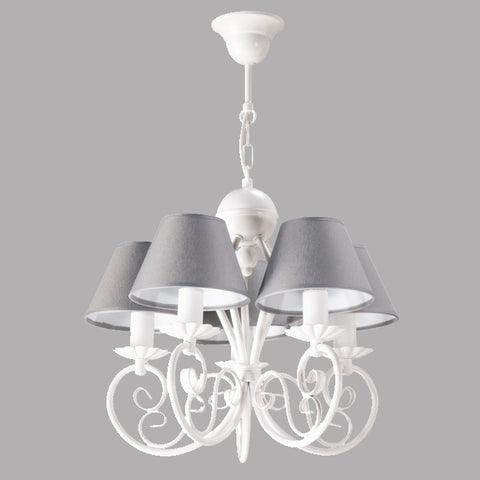 Nanette - Shabby Chic Ceiling Lamp, Grey Provence Chandelier-Chandelier-Belle Fierté