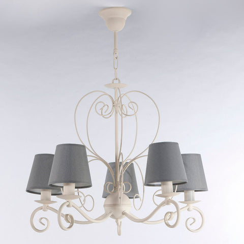 Grey and Cream French Style Chandelier-Chandelier-Belle Fierté