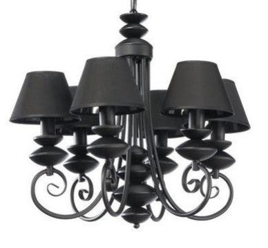 6 black lamp shade traditional chandelier belle fiert 6 black lamp shade traditional chandelier chandelier belle fiert aloadofball Choice Image