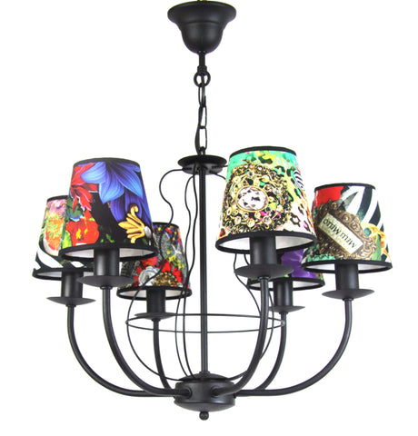 Colourful Ceiling Lamp, Living Room Chandelier-Chandelier-Belle Fierté