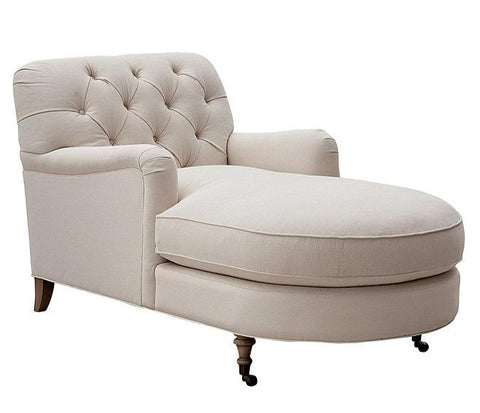 Abby - Elegant Chesterfield Chaise Lounge-Chaise Lounge-Belle Fierté