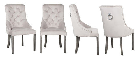 Cheryl Set - Velvet Knocker Dining Chair Set-Chair Set-Belle Fierté