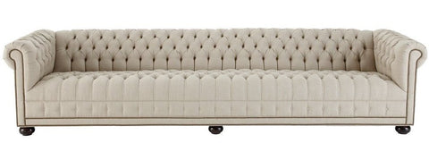 Cowley - 4 Seater Chesterfield Linen Sofa-Sofa-Belle Fierté