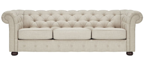 Harper - Chesterfield Linen Sofa-Sofa-Belle Fierté