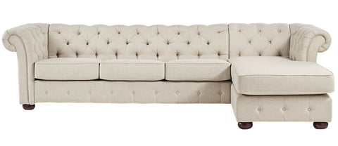Hampstead - Chesterfield Fabric Corner Sofa-Sofa-Belle Fierté