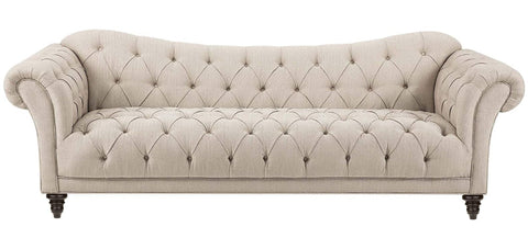 Maire - Chesterfield Linen Sofa-Sofa-Belle Fierté