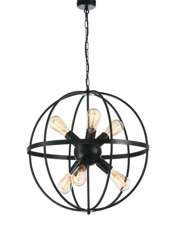 Marion - Industrial Sphere Pendant Light, Rustic Metal Chandelier-Chandelier-Belle Fierté