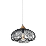 Nuna - Black Industrial Wire Ceiling Pendant Lamp-Ceiling Lamp-Belle Fierté