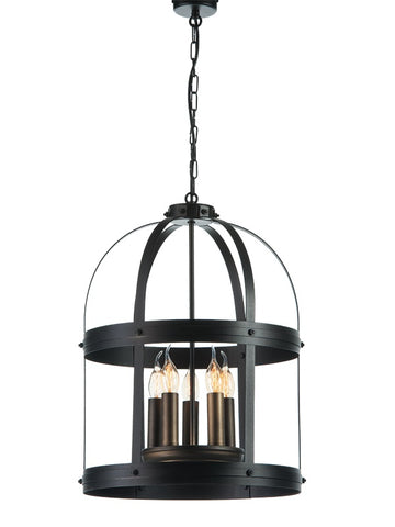 ARSENE - Rustic Farmhouse Pendant Light, Metal Chandelier - Belle Fierté