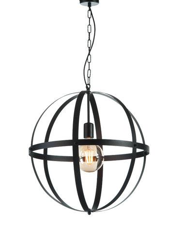 NOOR - Black Oval Metal Farmhouse Chandelier-Chandelier-Belle Fierté