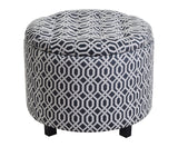 Disar - Elegant Buttoned Footstool with a Storage Box-Benches & Ottomans-Belle Fierté