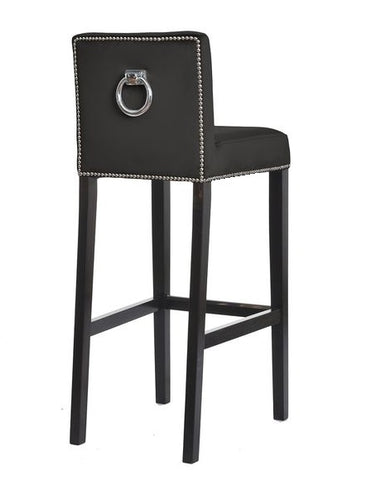 Liliam - Studded Back Ring Kitchen Island Stool, Velvet Bar Chair-Bar chair-Belle Fierté