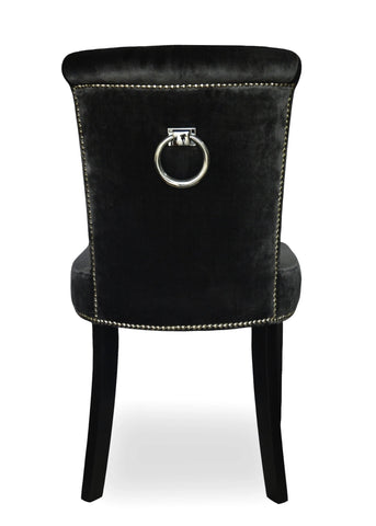 Grace - Studded Back Ring Velvet Chesterfield Dining Chair-Chair-Belle Fierté