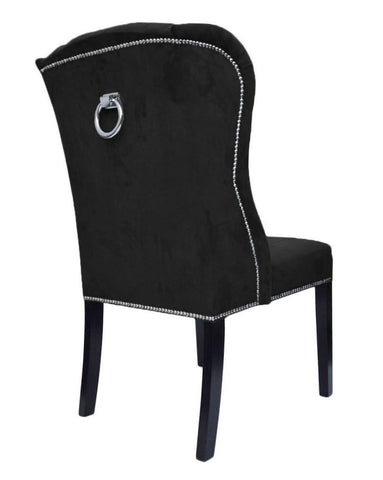 Ely - Chesterfield Knocker Ring Chair, Shabby Chic Velvet Dining Chair-Chair-Belle Fierté