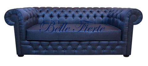 Fitzrovia - 3 Seater Chesterfield Studded Sofa with a Storage Box-Sofa-Belle Fierté