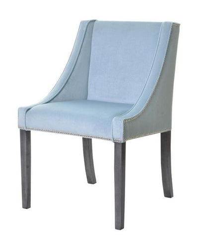 Evelyn II - Upholstered Nailhead Accent Chair, Velvet Dining Chair-Chair-Belle Fierté