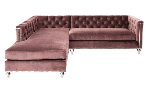 Incredible London Elegant Chesterfield And Studded Velvet Corner Sofa Ncnpc Chair Design For Home Ncnpcorg