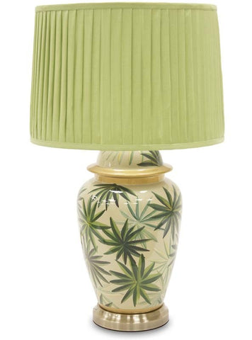 Ian - Ceramic Green Table Lamp 69 cm-Table Lamp-Belle Fierté