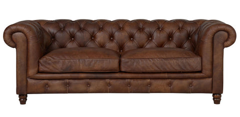 Lincoln - Genuine Italian Leather 3 Seater Chesterfield Sofa-Sofa-Belle Fierté