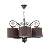 Brown Shade Brown Metal Chandelier-Chandelier-Belle Fierté