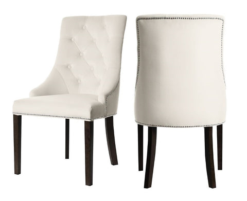 Carolyn - Cream Chesterfield Dining Chair, Set of 2-Chair-Belle Fierté