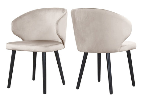 Carson - Beige Modern Velvet Dining Chair, Set of 2-Chair Set-Belle Fierté