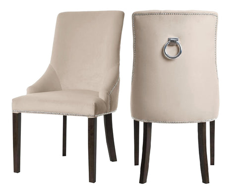 Colyers - Beige Knocker Dining Chair, Set of 2-Chair-Belle Fierté