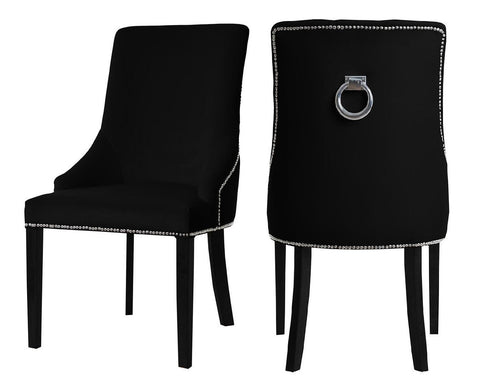 Colyers - Black Knocker Dining Chair, Set of 2-Chair Set-Belle Fierté