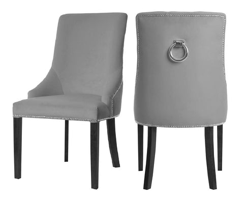 Colyers - Grey Knocker Dining Chair, Set of 2-Chair Set-Belle Fierté