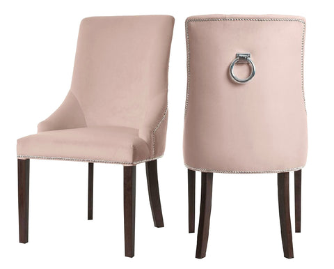 Colyers - Light Pink Knocker Dining Chair, Set of 2-Chair-Belle Fierté