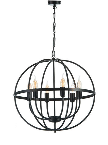 Erika - Rustic Farmhouse Pendant Light, Candle Style Metal Chandelier-Chandelier-Belle Fierté