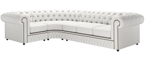 Samara - Chesterfield Genuine Italian Leather Corner Sofa-Sofa-Belle Fierté