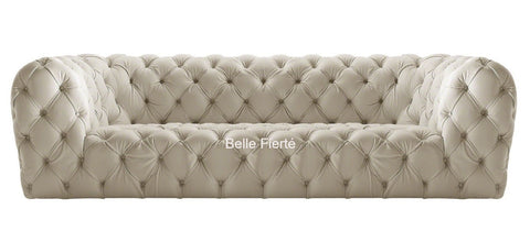 Milan - Luxury Contemporary Chesterfield Genuine Italian Leather Sofa - Belle Fierté