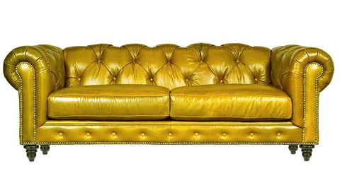 Mia - Chesterfield Genuine Italian Leather Sofa-Sofa-Belle Fierté