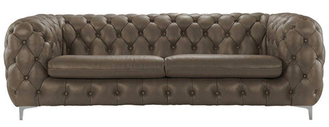 Gautier- Luxury Contemporary Chesterfield Genuine Italian Leather Sofa-Sofa-Belle Fierté