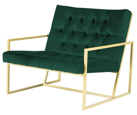 Miami - Contemporary Metal Base Velvet Occasional Chair-Chair-Belle Fierté