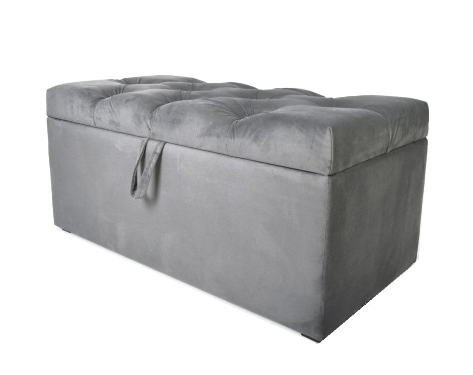 Amazing Frugo Velvet Chesterfield Storage Box Ottoman Ncnpc Chair Design For Home Ncnpcorg