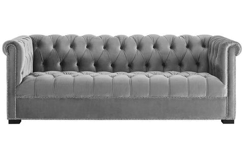 Felicity - Chesterfield Velvet 3 Seater Sofa-Sofa-Belle Fierté