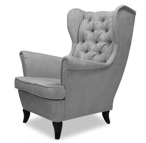 Wing - Chesterfield Wingback Armchair-Armchair-Belle Fierté