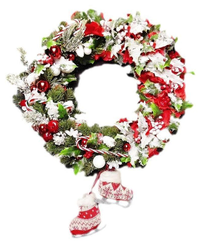 Door Wreath - Red Christmas Home Door Decoration-Christmas Decorations-Belle Fierté
