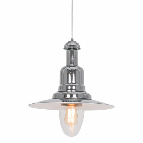 Ezra - Chrome Industrial Retro Kitchen Island 1 Light Ceiling Pendant Lamp-Ceiling Lamp-Belle Fierté